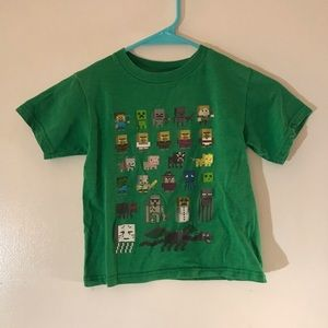 Mojang Minecraft Youth Green Graphic T-Shirt